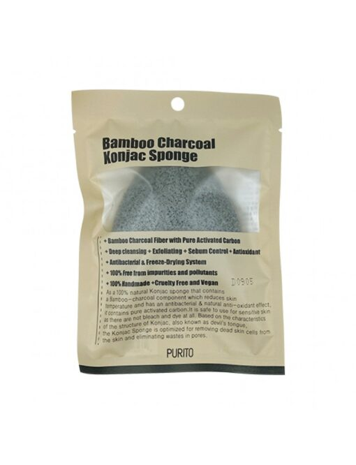 Bamboo Charcoal Konjac Sponge1